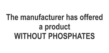 The manufacturer has offered a product WITHOUT PHOSPHATES