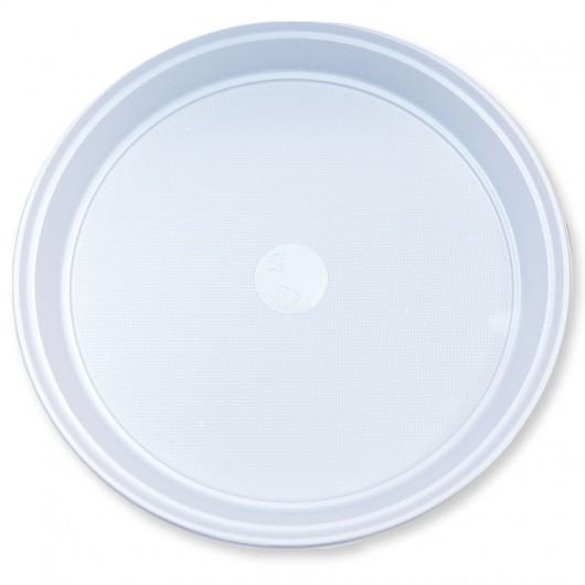 Talerz okrągły plastikowy 100szt